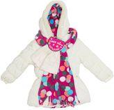 Pink Platinum Toddler Girl Dot Puffer Heavyweight Jacket