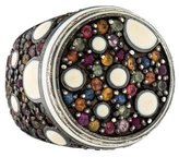 MCL by Matthew Campbell Laurenza Multicolored Sapphire & Enamel Ring