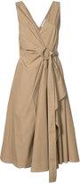 Derek Lam 10 Crosby wrapped midi dress - women - Cotton - 0