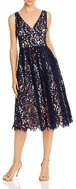 Eliza J Sleeveless Floral Lace Dress