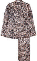 Olivia von Halle - Lila Leopard-print Silk-satin Pajama Set - Leopard print