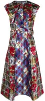 Thumbnail for your product : Chopova Lowena Panelled Belted Midi Dress