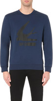 McQ by Alexander McQueen Swallow-print cotton-jersey sweatshirt
