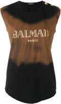 Balmain tie dye logo T-shirt