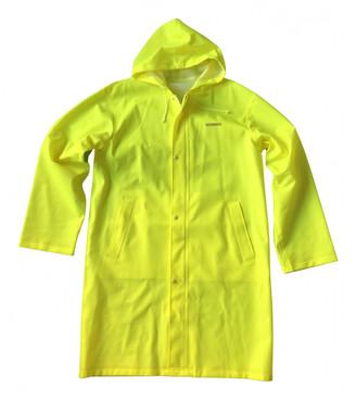 Vetements Yellow Polyester Coats