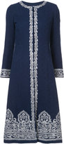 Oscar de la Renta medallion embroidered coat