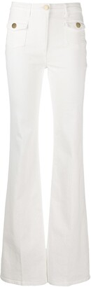 Elisabetta Franchi high-waisted flared jeans