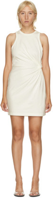 alexanderwang.t Off-White Jersey Fitted Twist Short Dress