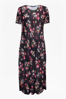 French Connection Florence Printed Plisse Jersey Midi Dress