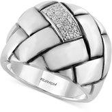 Effy Balissima Diamond Braid Ring (1/10 ct. t.w.) in Sterling Silver