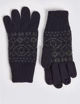 Marks and Spencer Knitted Fairisle Gloves