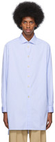 Gucci Blue and White Large Striped Classic Shirt