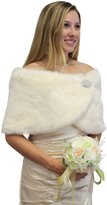 Tion Bridal Tion Design Faux Fur Wrap Bridal Wrap