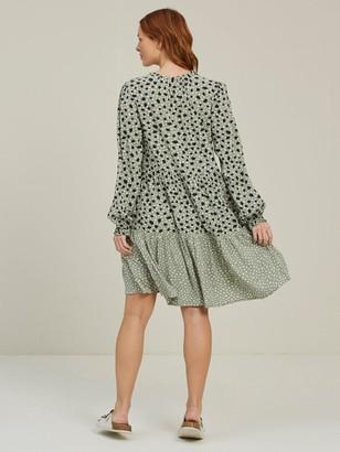 Fat Face Maye Double Spot Dress - Pistachio