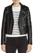 Maje Baltika Leather Biker Jacket