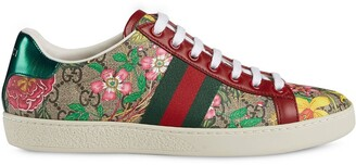 Gucci Flora Print Low-Top Sneakers