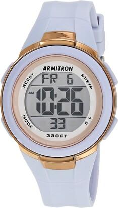 Armitron Sport Women's Digital Powder Blue Resin Strap Watch 45/7126PBL