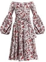 Caroline Constas Gisele off-the-shoulder cotton-blend dress