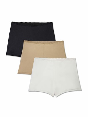 Brilliance by Vanity Fair Women's 3-Pack Undershapers Light Control Boyshort Panty 42301
