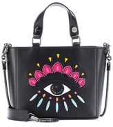 Kenzo Embroidered leather shoulder bag