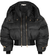 Stella McCartney Megane Cropped Quilted Shell Jacket - Black