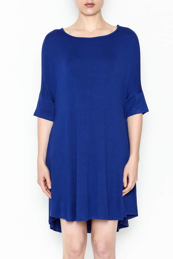 Umgee USA Royal Blue Tee Dress