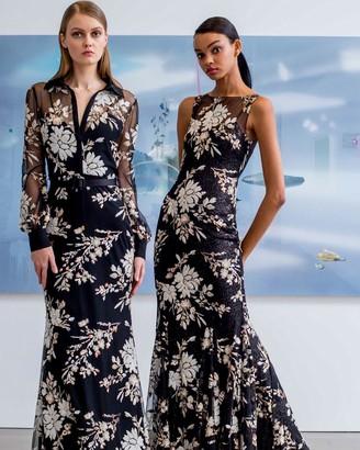 Badgley Mischka Sleeveless Sequin Gown
