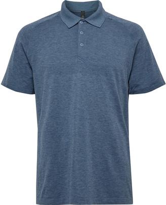 Lululemon Metal Vent Tech 2.0 Melange Stretch-Jersey Polo Shirt - Men - Blue