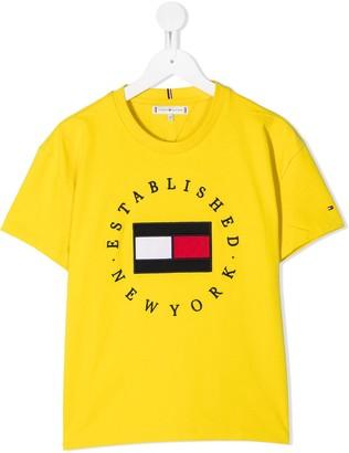 Tommy Hilfiger Junior TEEN logo-embroidered T-shirt