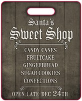 Boston Warehouse Holiday Sweet Shop Reversable Cutting Board