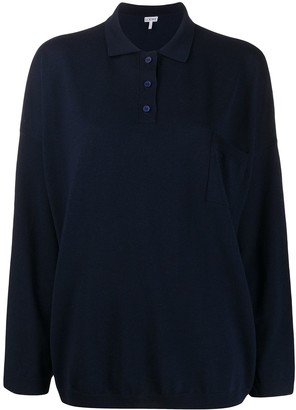 Loewe Collared Knitted Top
