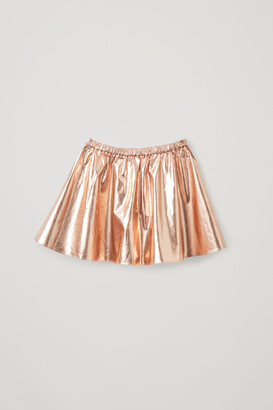 Cos Metallic Cotton Skirt