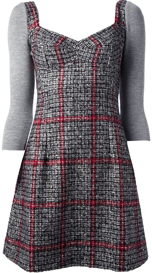 Dolce & Gabbana checked tweed dress