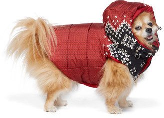 MONCLER GENIUS Reversible Red Poldo Dog Couture Edition Sweater Knit Jacket