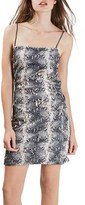 Topshop Women's Snake Pattern Sequin Minidress