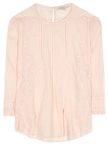 Vanessa Bruno Embroidered Ramie And Cotton Blouse