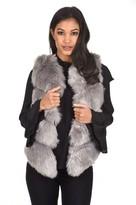 AX Paris Grey Short Faux Fur Gilet