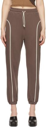Eckhaus Latta Brown French Terry Lounge Pants