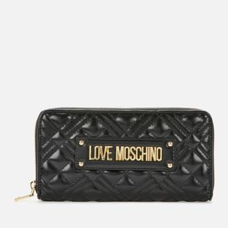 Love Moschino Women's Quilted Zip Around Wallet