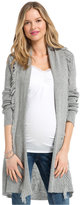 Jessica Simpson Maternity Fringed Open-Front Cardigan