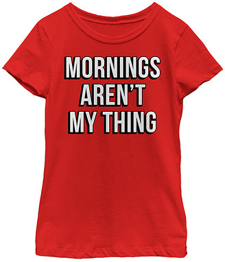 Fifth Sun Girls' Tee Shirts RED - Red 'Mornings Aren't My Thing' Tee - Girls