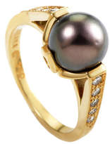 Heritage Kabana Kabana 18K 0.35 Ct. Tw. Diamond & Pearl Ring