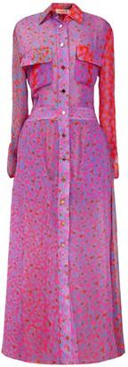 Tomcsanyi Tapolca Long Shirtdress 'Blossom Cheetah'