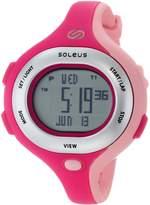 Soleus Women's SR009672 Chicked Grey Digital Dial with Pink Polyurethane Strap Watch