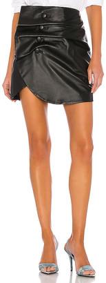 LPA Vreeland Leather Mini Skirt