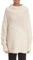 Prabal Gurung Cable Knit Cashmere Sweater
