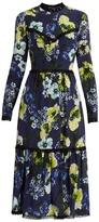 Erdem Georgie Hasu Night-print silk-crepe dress