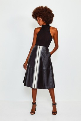 Karen Millen A Line Zip Colour Block Skirt