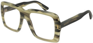 Gucci Unisex Bold Acetate Sunglasses with AR Coating
