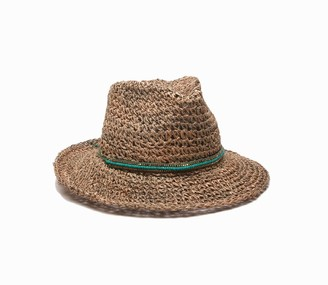 Ale By Alessandra womensTrancosoTrancoso Crochet Hat with Beaded Adjustable Headsize Hat - Multi - One Size